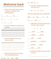 Revision worksheet