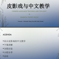 Chinese language teaching and the light shadow puppet show
