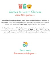 Games Learn Chinese website