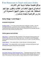 Free online resources to teach and learn Arabic