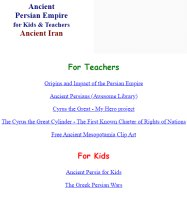 Ancient Persian Empire for Kids & Teachers