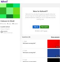 Hindi Kahoot - Colours