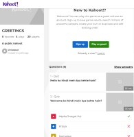 Kahoot - Greetings/Golden Words in Hindi