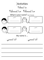 Activities for students-Cultural Identity