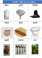 Items used in Indian Kitchen