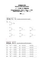 Test paper for Year 3 Term 1